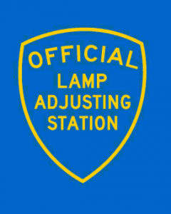 Fara\'s Auto -Lamp adjustment station in our full service automotive repair and our 24-hour gas station